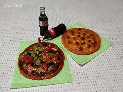 1 (MarKifay) Tags: food polymer clay doll 16 puppet miniature house pizza drink soda