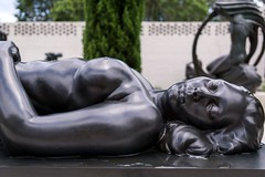 In a Puddle (BenBuildsLego) Tags: bronze sculpture statue escultura nude female brookgreen gardens south carolina usa american breasts laying down modern art museum