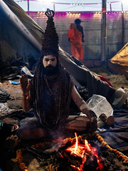 Sadhus of Kumbh. (Prabhu B Doss) Tags: fujifilm fujilove fujifeed prabh travelphotography sadhus kumbh kumbhmela portrait streetphotography india prayagraj prabhubdoss gfx50s gf3264mm