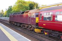 IMGP0769 (Steve Guess) Tags: egham station surrey england gb uk west coast class47 diesel loco locomotive engine 47425