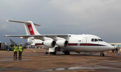 Statesman (Treflyn) Tags: royal air force british aerospace 146100 statesman queens flight static display riat raf fairford 2018 international tattoo cc2 hs146 bae ze700