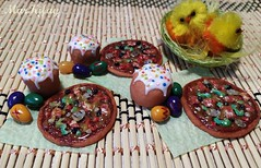 3 (MarKifay) Tags: pizza house miniature puppet 16 doll clay polymer food easter cakes eggs celebration