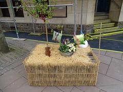decoracion conejo en mesa de paja Clervaux Luxemburgo 02 (Rafael Gomez - http://micamara.es) Tags: decoracion conejo en mesa de paja clervaux luxemburgo