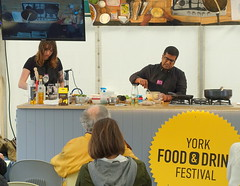 A demonstration from Rafi's Spicebox whose York shop on Goodramgate specialises in curry kits - 2 (Tony Worrall) Tags: yorkfoodfestival2019 york food festival 2019 spice asian show event stage demo fun cookery cooking display rafi'sspicebox rafi's spicebox curry make kevinfernandez yorkshire north update place location uk england visit area attraction open stream tour country item greatbritain britain english british gb capture buy stock sell sale outside outdoors caught photo shoot shot picture captured ilobsterit instragram