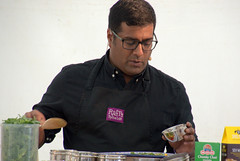 A demonstration from Rafi's Spicebox whose York shop on Goodramgate specialises in curry kits - 1 (Tony Worrall) Tags: yorkfoodfestival2019 york food festival 2019 spice asian show event stage demo fun cookery cooking display rafi'sspicebox rafi's spicebox curry make kevinfernandez yorkshire north update place location uk england visit area attraction open stream tour country item greatbritain britain english british gb capture buy stock sell sale outside outdoors caught photo shoot shot picture captured ilobsterit instragram