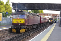 IMGP0770 (Steve Guess) Tags: egham station surrey england gb uk west coast class47 diesel loco locomotive engine 47245