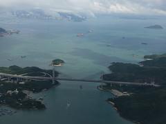 201905210 CX766 SGN-HKG Hong Kong (taigatrommelchen) Tags: 20190522 china hongkong lantau mawan ocean island coast bridge icon aerial view photo city building mountains airplane inflight cpa