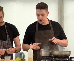 A demonstration from Tom Heywood, Head Chef of The Rattle Owl - 1 (Tony Worrall) Tags: demonstration cheftomheywood headchef therattleowl york food festival 2019 yorkfoodfestival2019 man cook cooking cookery make stage event show demo pan chef yorkshire annual north update place location uk england visit area attraction open stream tour country item greatbritain britain english british gb capture buy stock sell sale outside outdoors caught photo shoot shot picture captured ilobsterit instragram