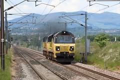 WALLYFORD 70803, 70812 (johnwebb292) Tags: wallyford diesel class 70 70803 70812 colasrail