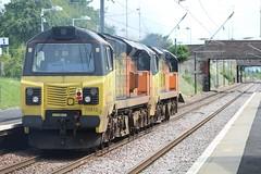 WALLYFORD 70812, 70803 (johnwebb292) Tags: wallyford diesel class 70 70803 70812 colasrail