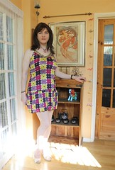 Summer sun (Joanne (Hay Llamas!)) Tags: transgender transwoman tg brunette tgirl cute uk brit british britgirl dress summer summerdress