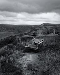 _6160284_DxO (Phil...H) Tags: oldhamway indianshead peakdistrict path clouds blackandwhite mono grass fence