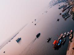 Ganga enters Kashi. (Prabhu B Doss) Tags: prabhubdoss fujifilm gfx50s gf3264mm gfx kashi varanasi travelphotography india ganges ganga