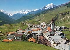 Postkarte / Schweiz (micky the pixel) Tags: postkarte postcard ephemera schweiz suisse switzerland ardez unterengadin landschaft landscape gebirge mountains alpen alps ostalpen silvretta grischun kantongraubünden