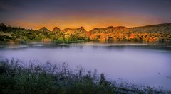 la magie des montagnes anciennes... (JDS Fine Art Photography) Tags: arizona watsonlake nature sunset naturesbeauty naturalbeauty colors colours beauty inspirational light illumination lake water sky ancient rocks ancientrocks spiritual