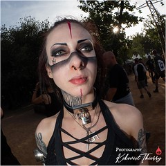 Les Gueules du Hellfest 2018 (kikevist thierry) Tags: portrait festival photographer gig olympus streetphoto omd ambiance hellfest 2018 livestyle concertphotographer gigphotographer em1markii kikevist hellfest2018 lesgueulesduhellfest chassingthelight woman girl rock femme heavymetal fille hardrock metalgirl rockstyle