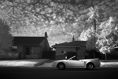 volcano weather (Robert Couse-Baker) Tags: infrared house fordmustang clouds bw nb sacramento