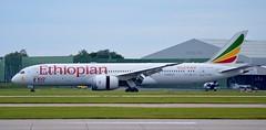 Ethiopian Airlines Boeing 787 ET-AUQ (stephenjones6) Tags: msn38787 aircraft airport aviation boeing b787 b7879 dreamliner nikon d3200 ethiopian taxiway manchester man egcc ringway etauq civil