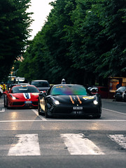 Double Speciale (Mattia Manzini Photography) Tags: ferrari 458 speciale 458speciale supercar supercars cars car carspotting nikon d750 v8 automotive automobili auto automobile italy italia bologna black red stripes ferraritribute millemiglia