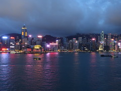 201905215 Hong Kong Central and Wan Chai (taigatrommelchen) Tags: 20190522 china hongkong central wanchai sight icon clouds dusk ocean harbour city skyline