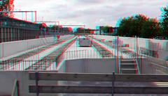 NS-station Driebergen-Zeist 3D (wim hoppenbrouwers) Tags: nsstation driebergenzeist 3d anaglyph stereo redcyan viaduct prefab beton betonconstruktie
