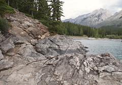 Lake Minnewanka (Kim's Pics :)) Tags: lakeminnewanka beautiful scenic rock rocky glacial lake trees forest banff canadianrockies banffnationalpark mountains water alberta canada