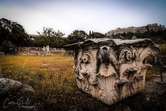 Ancient Agora of Athens (corineouellet) Tags: hdr composition details canonphoto explore travel landscape nature marble history histoire old ruines ruins grèce athens athènes greece