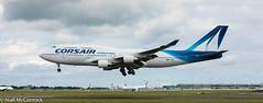 F-HSEA Corsair Boeing 747-422 (Niall McCormick) Tags: dublin airport eidw aircraft airliner dub fhsea corsair boeing 747422 b744 jumbo jet