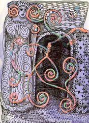The Queen's Magic (Life Imitates Doodles) Tags: zentangle tangles abstract bluetea
