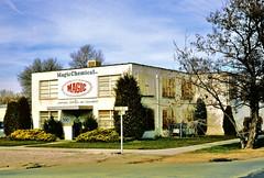 Magic Chemical Co. (Salt Lake City, UT) (hardhatMAK) Tags: magicchemical formerfoleyelectricbuilding 510wsecondnorth saltlakecity janirorialequipmentandsupplies 2191995 scannedslide kodachrome64