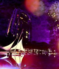 Poolside (A_pinch_of_Salt) Tags: water pool side lights sky