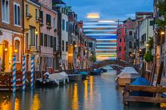 Cruising Past (street level) Tags: italy venice cruiseship canal longexposure venezia italia travel nightphotography europe boats architecture bridge water nikon z6