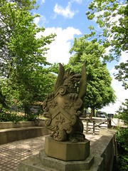 IMG_1977 griffin? (belight7) Tags: eton statue bridge college uk england crest