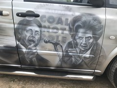 (Sam Tait) Tags: merc mercedes vito silver van diesel art artwork airbrush airbrushing yorkshire scene scenes mine miners ncb pit colliery coal dole margaret margret thatcher maggie arthur scargill barnsley main