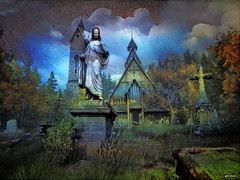 Kingdom of the dead (bdira3) Tags: graveyard dark textured sculpture surreal