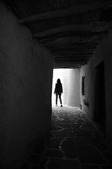 (cherco) Tags: woman walk lonely light luz solitario solitary silhouette silueta shadow sombra street solo loner composition canon composicion city blackandwhite blancoynegro ciudad perspectiva greece wall monochrome markiii