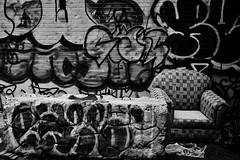 TooComfortable (Street Witness) Tags: cityscape streetscape mechanics alley lower east side new york city graffiti 28mmcanonfdmountmanualfocuslens 15cropfactor42mmlens
