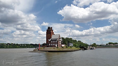 Floating time (BarLaci73) Tags: clock time tower building river cityscape travel hamburg