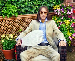 Summer Linen Suit (LordJoshAllenLAMAT) Tags: longhair lordjosh lordjoshallen shirt sunglasses shoes selfie style suit silk smokingjacket summer outfit outdoors english unique mensclothes mensfashion gentleman dandy attire fashion fashionable jacket flowers garden male model mens openshirt luxury wealth hairstyle fancy pants formal blazer bespoke belt brocade british classy clothing clothes relaxing feathers white sunny sun photo photoshoot photography hair