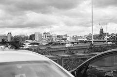 27660020 (X-Ray Alpha Photography) Tags: 35mm ilford hp5 hp5plus glasgow shieldsroadcarpark scotlandstreet m8 motorway kingstonbridge