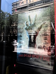 The Dead Don't Die directed by Jim Jarmusch 1565 (Brechtbug) Tags: the dead dont die movie poster behind glass theater lobby 2019 nyc directed by jim jarmusch film new york city 06152019 68th st amc