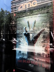 The Dead Don't Die directed by Jim Jarmusch 1564 (Brechtbug) Tags: the dead dont die movie poster behind glass theater lobby 2019 nyc directed by jim jarmusch film new york city 06152019 68th st amc