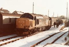 37417 Brora February 1986 (clivepsmithmarch1960) Tags: 37417 brora farnorthline