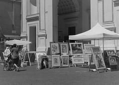 Mantova, Piazza Andrea Mantegna (memedesimo) Tags: mantova mantua italy italia basilicadisantandrea piazzamantegna bn