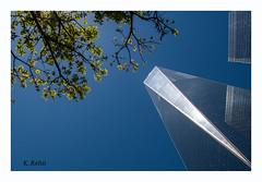 One World Trade Center in New York (aus Kiel) Tags: new york blue sky skyscraper 1 downtown manhattan sommer fenster towers 911 twin himmel wolken business gross stadt architektur urbano blau turm zentrum büro gebäude glas handel stahl welt konstruktion finanzen hoch strukturen firmen stadtteil äusseres