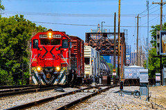 Spray and Pray (BravoDelta1999) Tags: ferromex fxe railroad canadianpacific cpr cp rail milwaukeeroad milw railway cmsubdivision kkbridge milwaukee wisconsin emd gp382 2046 weed sprayer train ferrocarrilchihuahuaalpacifico chihuahuapacifico chp