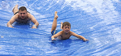 Happy Fathers Day!! (Kevin Povenz Thanks for all the views and comments) Tags: 2019 june kevinpovenz westmichigan michigan ottawa ottawacounty jenison outside outdoors wet water blue slide slip slipnslide canon7dmarkii sigma150600 father son boy man male child fathersday