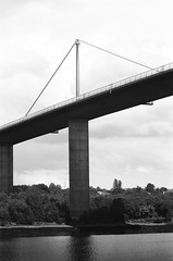 27670030 (X-Ray Alpha Photography) Tags: 35mm ilford hp5 hp5plus erskine bodenboo erskinebridge pillar support cablestay