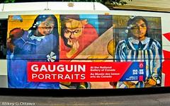 Gauguin Bus Ad - Ottawa  06 19 (Mikey G Ottawa) Tags: mikeygottawa canada ontario ottawa street city mural ad bus busad reklame advertisement publicite gauguin nationalgallery octranspo