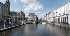 River in the city (BarLaci73) Tags: cityscape river travel hamburg